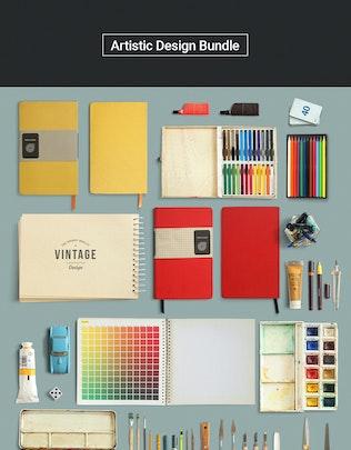 Thumbnail for ArtBox - Artistic Mockup Kit