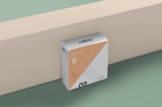 Thumbnail for Square Shaped Slim Box Mockups