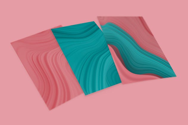 Abstract 3D Wavy Striped Backgrounds - product preview 1