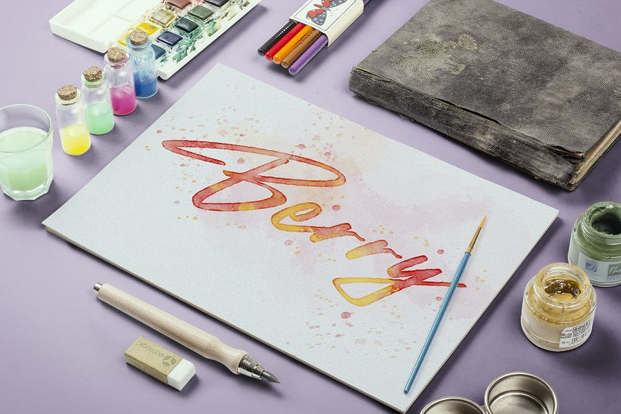 Watercolor Painting - Photoshop Action - product preview 2