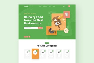Thumbnail for Food Delivery Restaurant Responsive Template