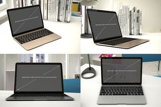 Thumbnail for Laptop Mockup - 12 Poses