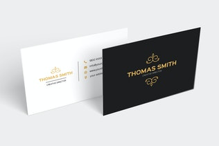 Thumbnail for Modern Minimalist Business Card Template