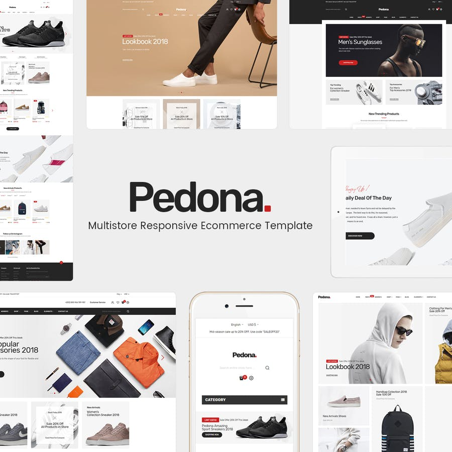 Pedona - Opencart Theme (Included Color Swatches)  - product preview 1