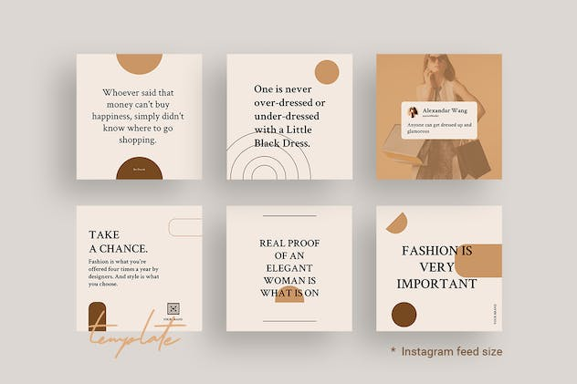 Editable Quotes Instagram Templates for Fashion V2 - product preview 1