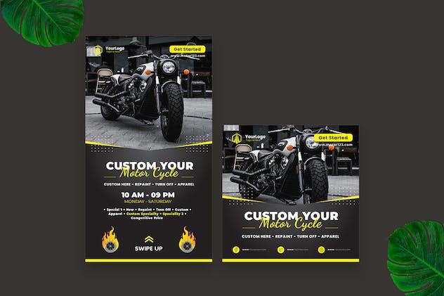 Custom Motorbike Instagram Story Post