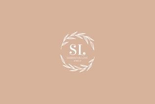 Thumbnail for Romantic Feminine Premade Logos pt 2