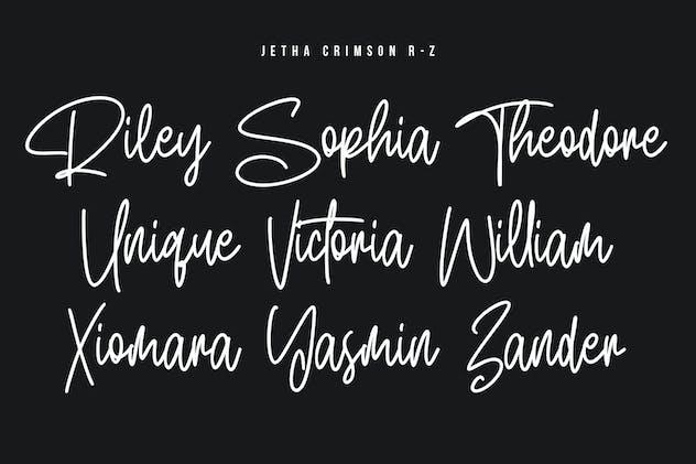 Jetha Crimson Signature Brush Font Typeface - product preview 4