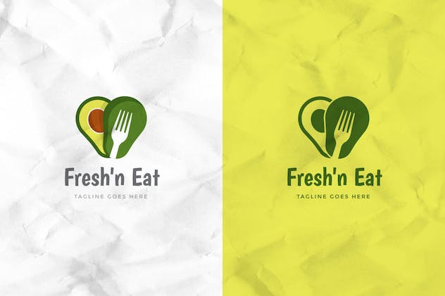 Fresh Avocado Logo Template - product preview 2