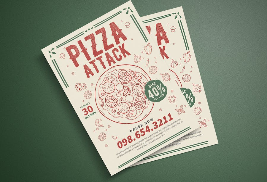 Pizza Party Flyer - product preview 3