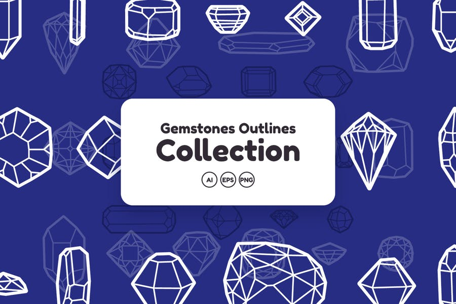 Gemstones Outlines Collection - product preview 1