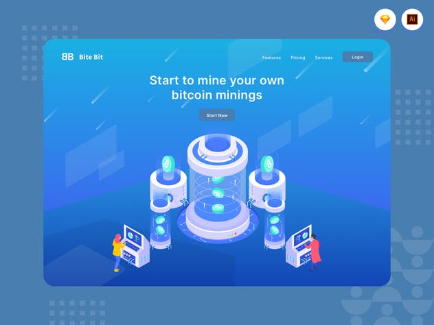 Start Your Own Bitcoin Mining - Website Header - product preview 1