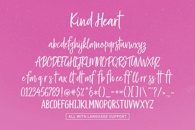 Kind Heart Font Duo - product preview 3