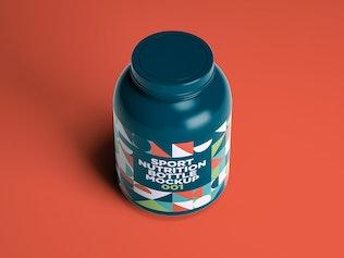 Thumbnail für Sport Nutrition Flasche Mockup 001