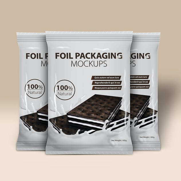 Foil Packaging Mockups Vol.2