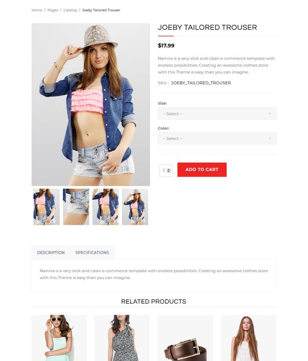 Namira - Unique eCommerce J2Store Joomla Template