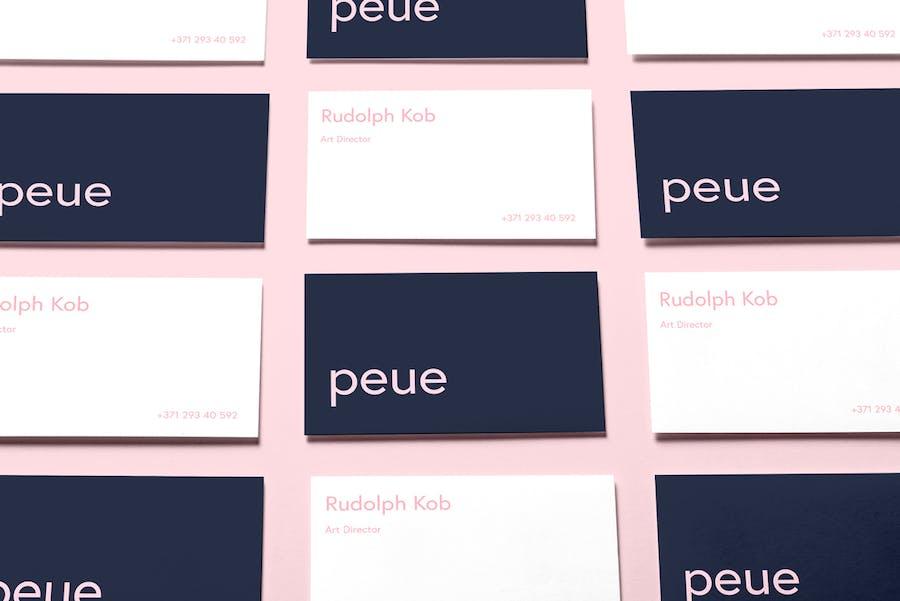 Preview image 11 for Peue - Реалистичный макап для визитных карточек