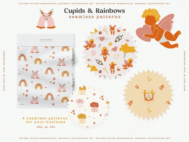 Cupids & Cute Rainbows - product preview 3