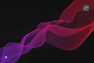 Миниатюра для Цифровой сетевой поток волн Photoshop Кисти