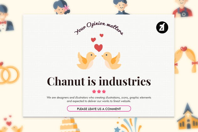 40 Wedding elements in flat design