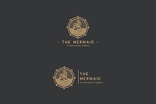 Thumbnail for The Mermaid Logo Template