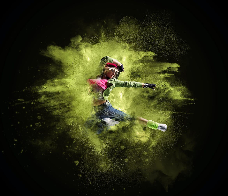 沙尘/粉末爆炸Photoshop动作Sand Dust / Powder Explosion Photoshop Action插图8