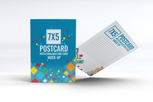 Thumbnail for Postcard Invitation Greeting Card Mock-Up V3