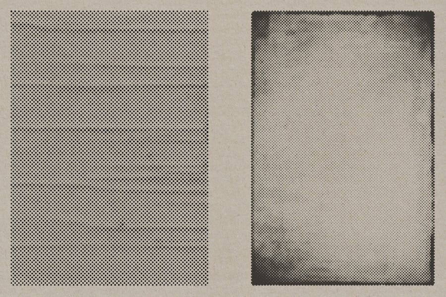 Halftone Vector Paper Textures - product preview 4