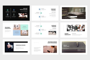 Thumbnail for Colaris : Minimal Business Profile Powerpoint
