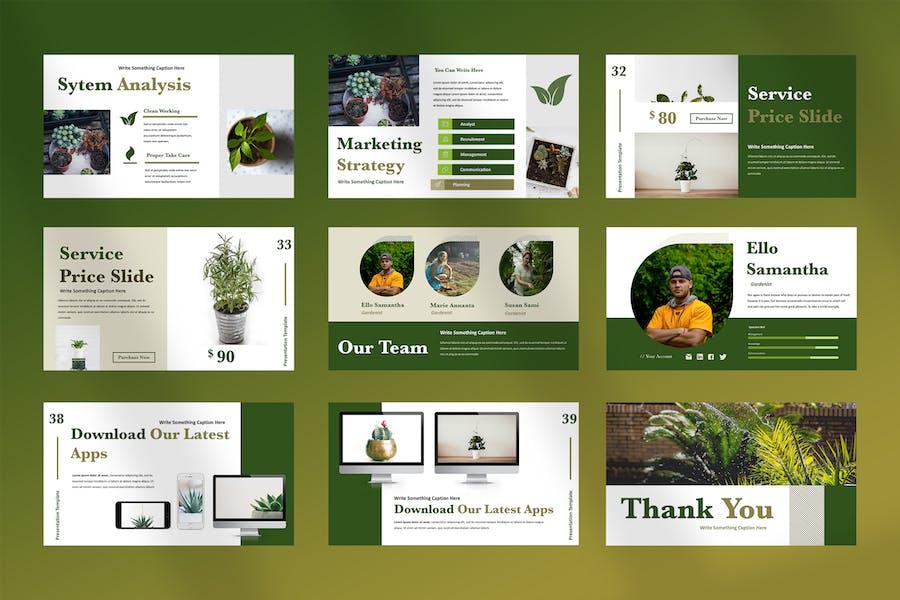 Ellen - Home Gardening Powerpoint Presentation - product preview 4