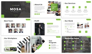 Thumbnail for Mosa - Financial Powerpoint Template