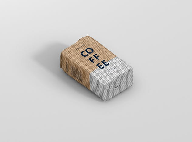 Coffee Paper Bag Mockup - product preview 13