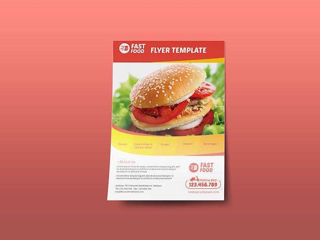 Restaurant/ Fast Food - Flyer Template by Wutip on Envato Elements