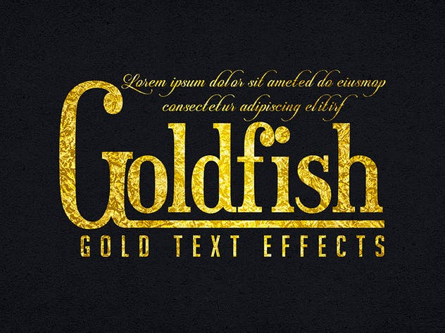 Gold Text Effects 1 - product preview 1