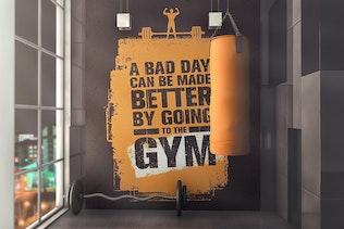 Gym Advertising Mockup