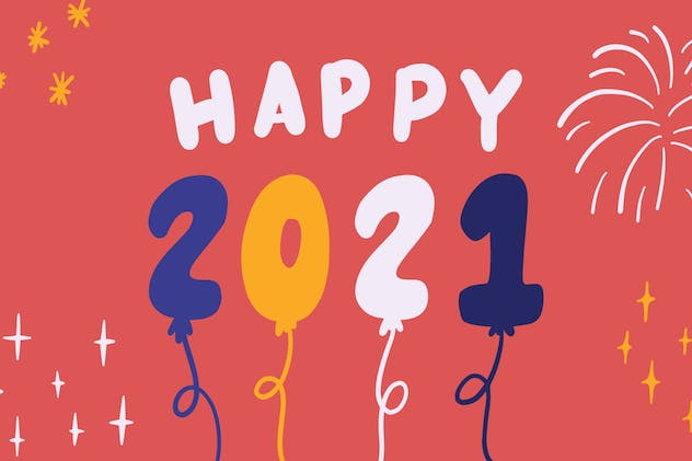 New Year 2021 - Procreate Stamp Brush - product preview 4