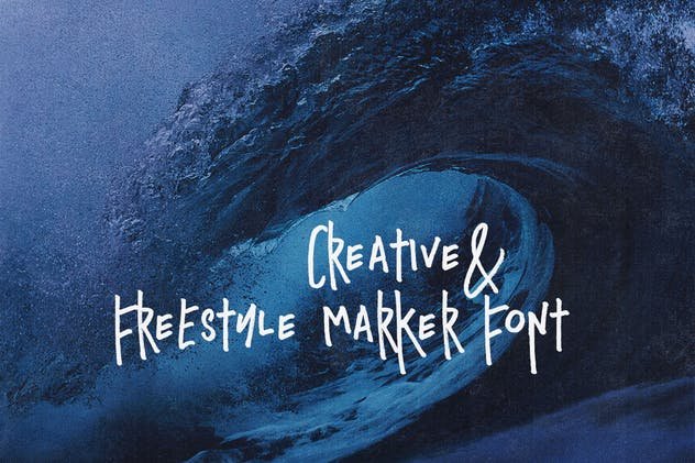 Blue Dream - Crazy Handwritten Font - product preview 2