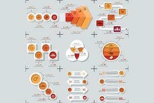 Thumbnail for Minimal Flat Infographics v.02