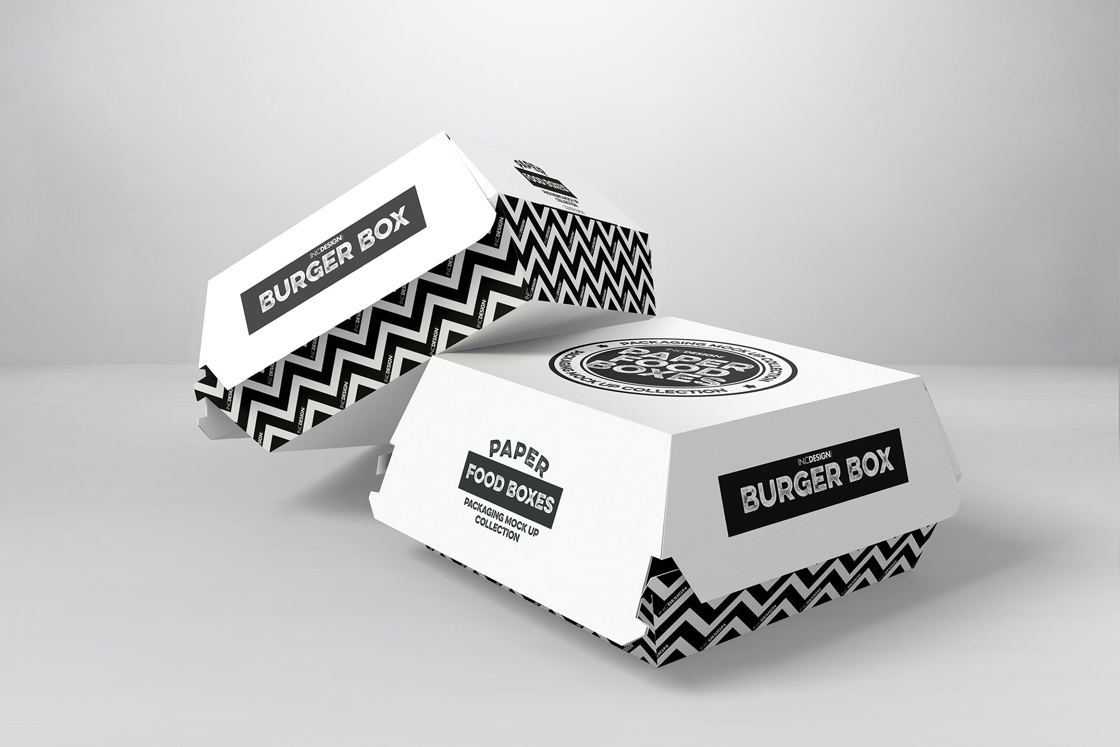 Fast Food Boxes Vol 1: Take Out Packaging MockUps by ina717
