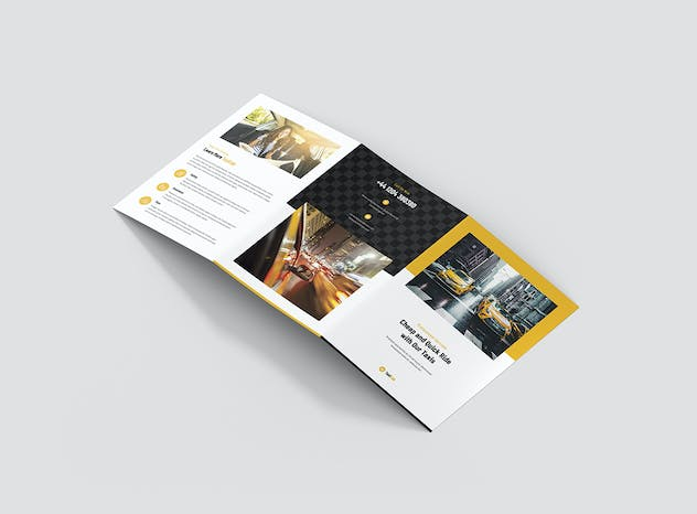 Taxi Cab – Brochures Bundle Print Templates 5 in 1 - product preview 7
