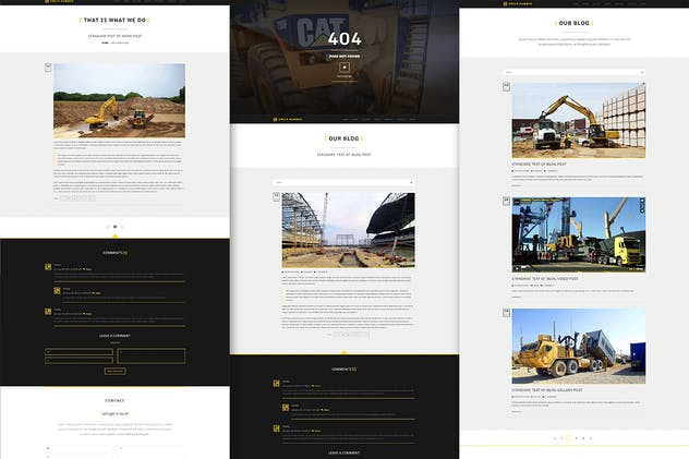 Uncle Hummer - Responsive HTML Building Template