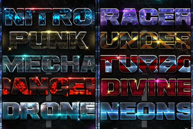 Turbo Photoshop Text Effects