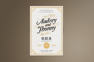 Thumbnail for Simple Elegant Wedding Invitation