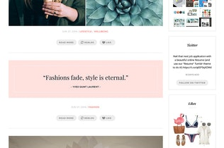 Thumbnail for Fashion Chic Tumblr Theme