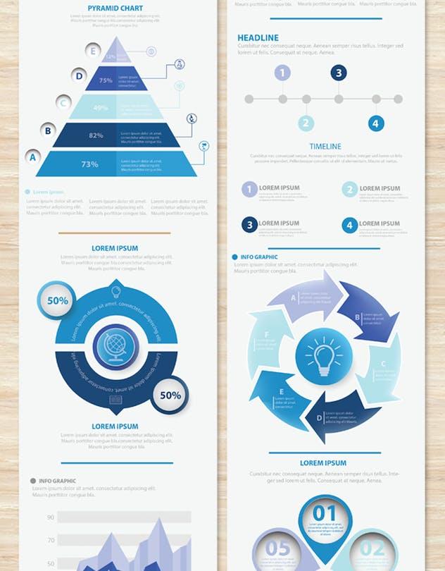 Big Blue Infographic Elements Design Scheme V.5 - product preview 6