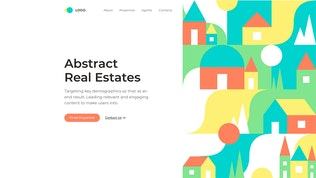 Thumbnail for Abstract Shapes Real Estates Landing Page