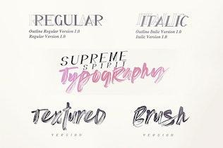 Thumbnail for Supreme Spirit Brush Font
