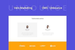 Miniature pour Vero - Modèle de Unbounce marketing