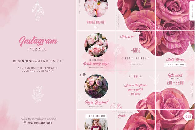 Flower Shop Instagram Puzzle - product preview 4