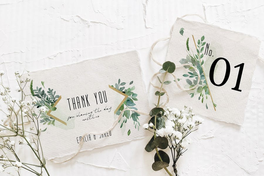 Gold & Greenery Wedding Suite - product preview 5